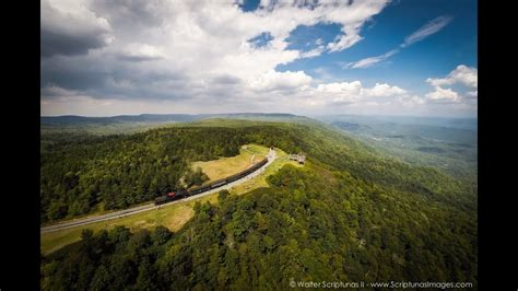 Aerial West Virginia: Cass Scenic Railroad - YouTube