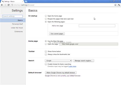 Chrome Gets a Revamped Settings Page