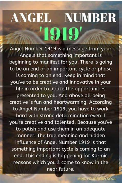 Angel Number 1919: You Are A Heart-Warming Soul - Mind